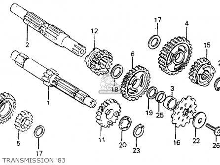 Honda Cr125r Elsinore 1983 (d) Usa parts list partsmanual