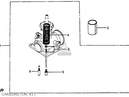 Honda Cr125r Elsinore 1982 Usa parts list partsmanual