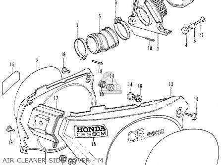 Honda Cr250m Elsinore 1973 K0 Usa parts list partsmanual