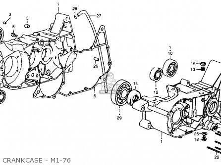 Honda Cr250m Elsinore 1975 M1 Usa parts list partsmanual