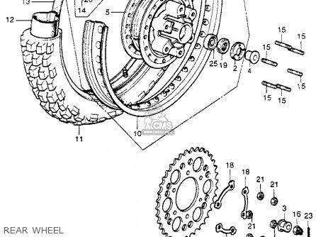 Honda CR250M ELSINORE 1975 M1 USA parts lists and schematics
