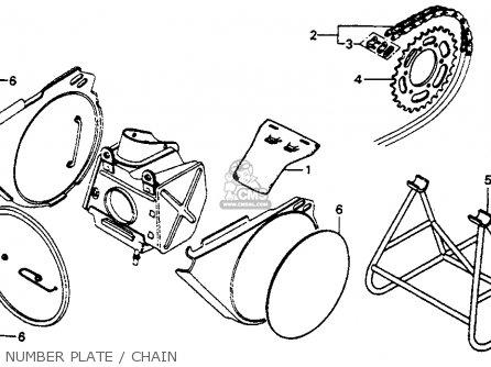 Honda Cr250m Elsinore 1976 Usa parts list partsmanual