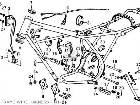 Honda Cr250m Elsinore M1 Usa parts list partsmanual partsfiche