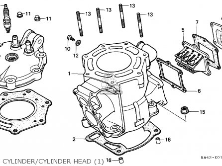 Honda Cr250r 1984 Canada / Cmf parts list partsmanual