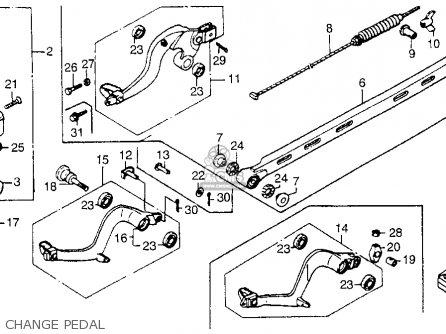 Honda Cr250r 1984 (e) Usa parts list partsmanual partsfiche