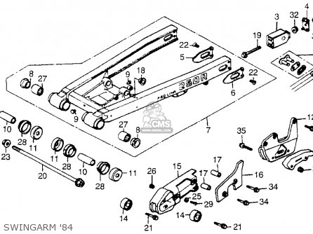 Honda Cr250r 1984 (e) Usa parts list partsmanual partsfiche