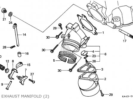 Honda Cr250r 1985 European Direct Sales / Cmf parts list