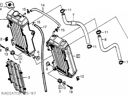 Honda Cr250r 1985 Usa parts list partsmanual partsfiche