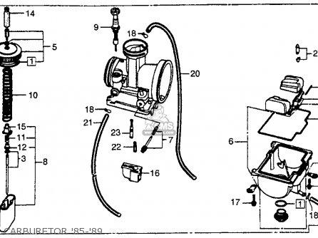 Honda Cr250r 1986 Usa parts list partsmanual partsfiche