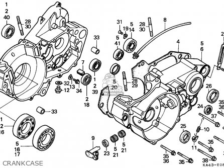 Honda Cr250r 1988 Canada parts list partsmanual partsfiche