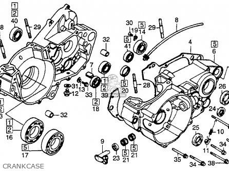 Honda Cr250r 1988 Usa parts list partsmanual partsfiche