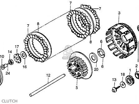 Honda Cr250r 1989 Usa parts list partsmanual partsfiche