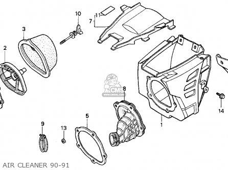 Honda Cr250r 1990 (l) Usa parts list partsmanual partsfiche