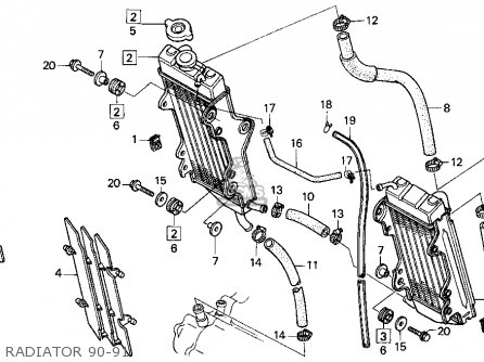 Honda Cr250r 1990 (l) Usa parts list partsmanual partsfiche