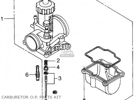 Honda Cr250r 1994 Usa parts list partsmanual partsfiche
