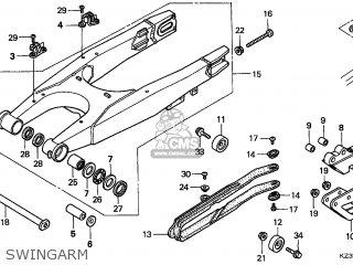 Honda Cr250r 1999 (x) European Direct Sales Cmf parts list