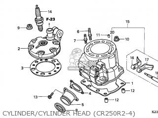 Honda CR250R 2002 (2) AUSTRALIA parts lists and schematics