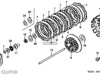 Honda CR250R 2004 (4) USA parts lists and schematics