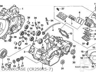 Honda CR250R 2007 (7) AUSTRALIA parts lists and schematics