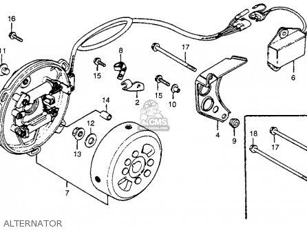 Honda Cr250r Elsinore 1978 Usa parts list partsmanual