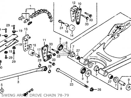 Honda CR250R ELSINORE 1979 (Z) USA parts lists and schematics