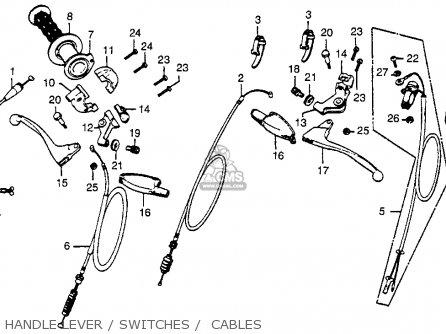 Honda Cr250r Elsinore 1980 (a) Usa parts list partsmanual