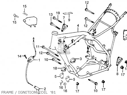 Honda Cr250r Elsinore 1981 (b) Usa parts list partsmanual