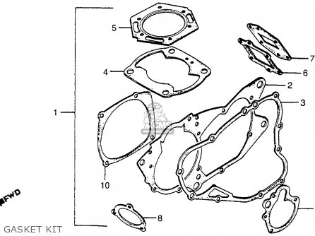 Honda CR250R ELSINORE 1981 (B) USA parts lists and schematics
