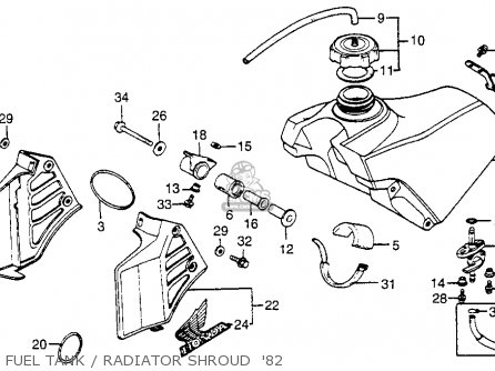 Honda CR250R ELSINORE 1982 (C) USA parts lists and schematics