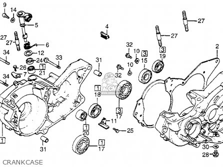 Honda Cr250r Elsinore 1982 Usa parts list partsmanual