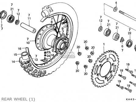 Honda CR250R ELSINORE 1984 (E) AUSTRALIA parts lists and