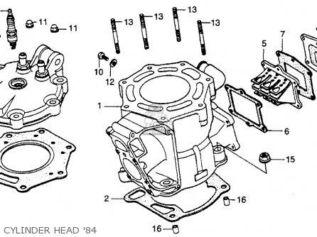 Honda Cr250r Elsinore 1984 (e) Usa parts list partsmanual