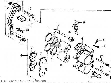 Honda Cr250r Elsinore 1985 (f) Usa parts list partsmanual