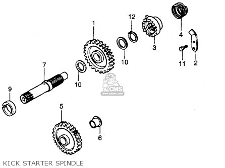 Honda CR250R ELSINORE 1985 (F) USA parts lists and schematics