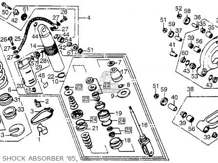 Honda CR250R ELSINORE 1986 (G) USA parts lists and schematics