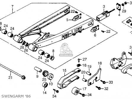 Honda Cr250r Elsinore 1986 (g) Usa parts list partsmanual