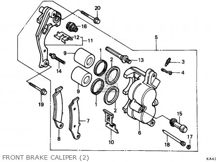 Honda Cr250r Elsinore 1987 (h) Australia parts list