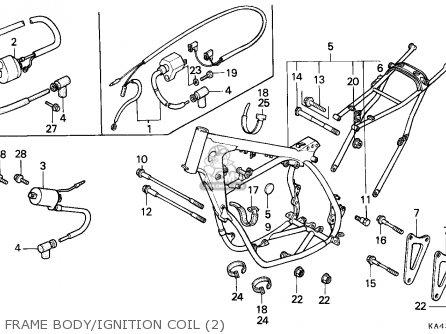 Honda Cr250r Elsinore 1987 (h) Canada / Cmf parts list
