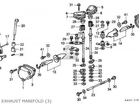 Honda Cr250r Elsinore 1988 (j) Canada parts list