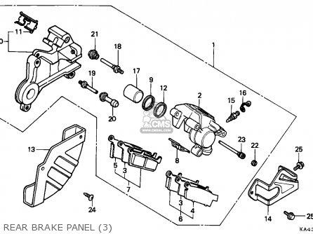 Honda CR250R ELSINORE 1988 (J) CANADA parts lists and
