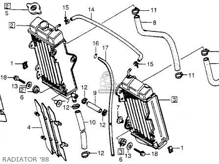 Honda Cr250r Elsinore 1988 (j) Usa parts list partsmanual