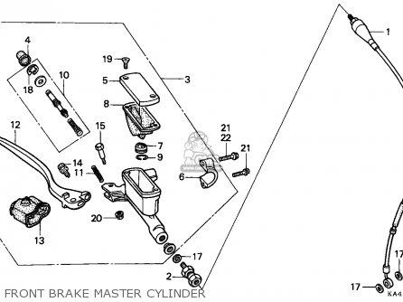 Honda Cr250r Elsinore 1989 (k) Canada parts list