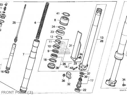 Honda Cr250r Elsinore 1989 (k) Sweden parts list