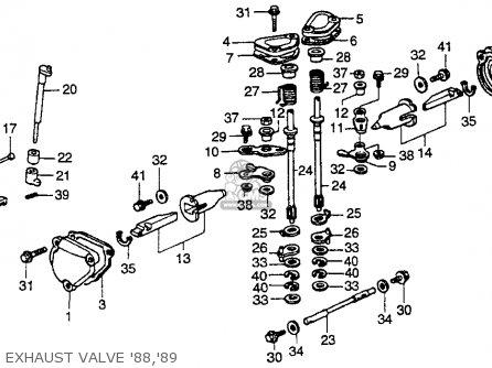 Honda Cr250r Elsinore 1989 (k) Usa parts list partsmanual