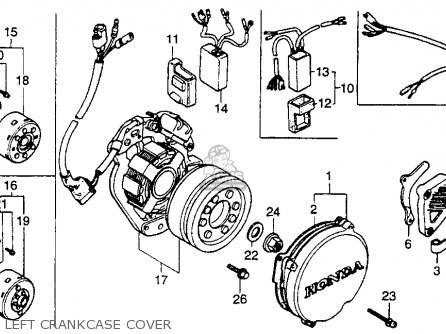 Honda CR250R ELSINORE 1989 (K) USA parts lists and schematics