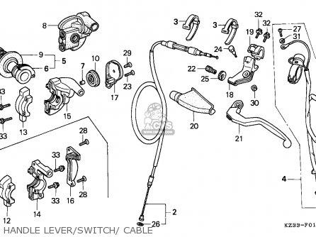 Honda CR250R ELSINORE 1990 (L) AUSTRALIA parts lists and