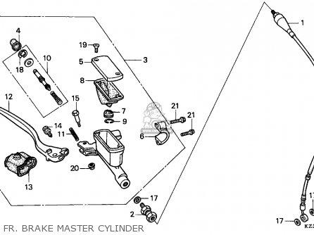 Honda Cr250r Elsinore 1990 (l) Germany parts list