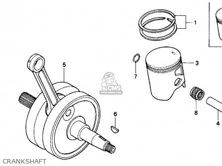 Honda Cr250r Elsinore 1990 (l) Usa parts list partsmanual