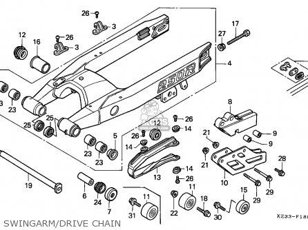 Honda CR250R ELSINORE 1991 (M) AUSTRALIA parts lists and