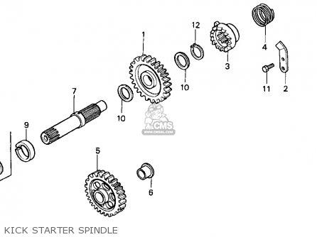 Honda CR250R ELSINORE 1991 (M) USA parts lists and schematics